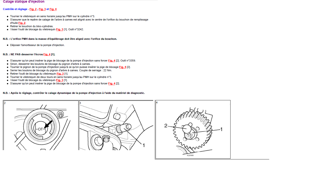 Calage Statique D Injection Audi A6 Tdi Calage Injection