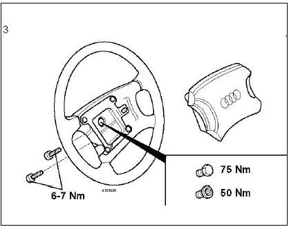 Dépose et repose du volant airbags diagnostic audi a3 1.6l diagnostic Dépose et repose du volant airbags 4