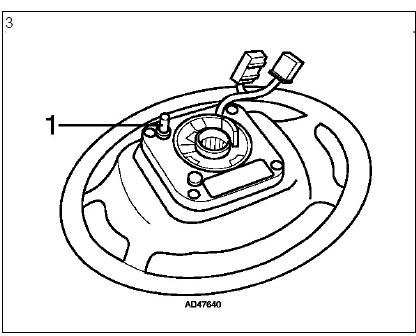 Dépose et repose du volant airbags diagnostic audi a3 1.6l diagnostic Dépose et repose du volant airbags 5