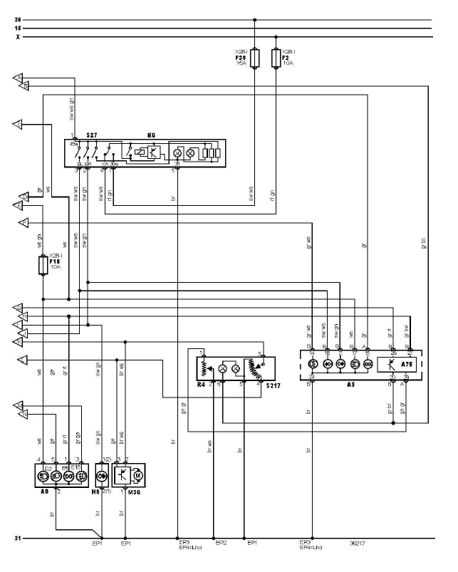 schéma et câblage éclairage extèrieur avec système signalisation défaut ampoules audi a3 1.6 l schéma et câblage audi éclairage extèrieur avec système signalisation défaut ampoules 3