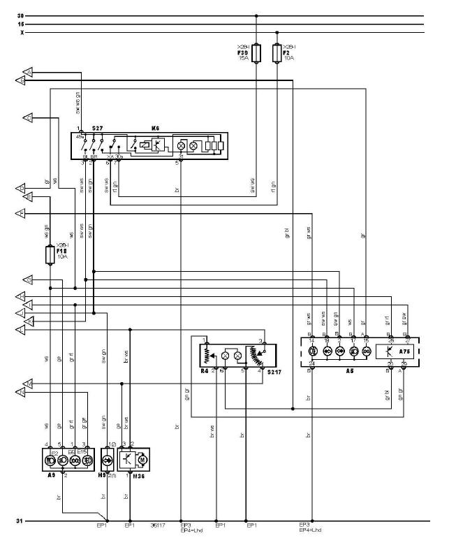 schéma et câblage éclairage extèrieur sans système signalisation défaut ampoules audi a3 1.6 l schéma et câblage audi éclairage extèrieur sans système signalisation défaut ampoules 3