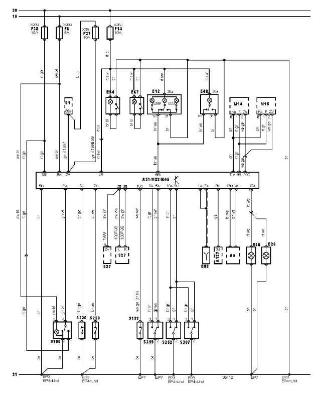 schéma et câblage éclairage intérieur sans alarme audi a3 1.6 l schéma et câblage audi éclairage intérieur sans alarme 1