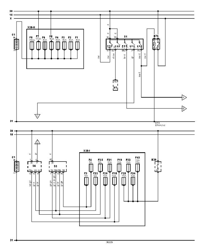 schéma et câblage alimentation batterie audi a3 1.6 l schéma et câblage audi alimentation batterie 1