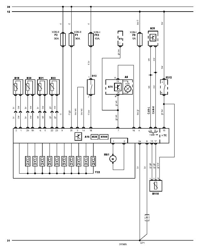 schéma et câblage bloc hydraulique ABS diagnostic audi a3 1.6l diagnostic schéma et câblage bloc hydraulique ABS 3