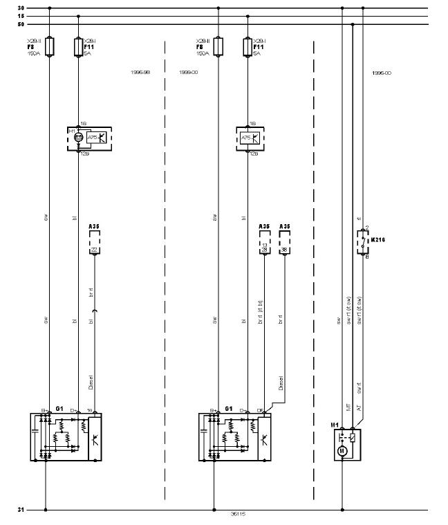 schéma et câblage circuit démarrage système charge audi a3 1.6 l schéma et câblage circuit démarrage système charge 1