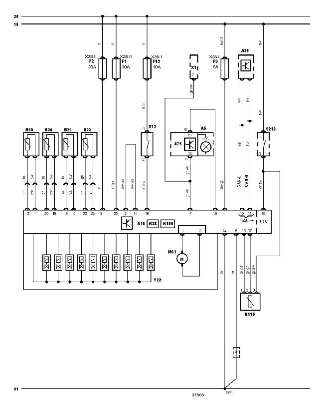 schéma et câblage diagnostic ABS audi a3 1.6 l schéma et câblage audi ABS 1