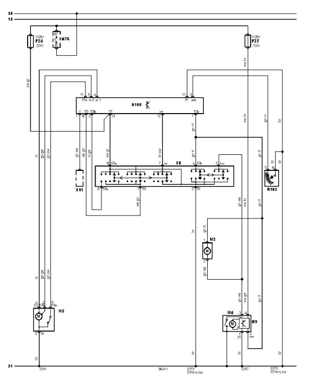 schéma et câblage essuie glace lave glace audi a3 1.6 l schéma et câblage essuie glace lave glace 1