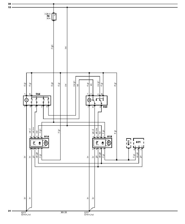 schéma et câblage lève vitres éléctrique audi a3 1.6 l 2porte schéma et câblage audi lève vitres éléctrique 2p 1