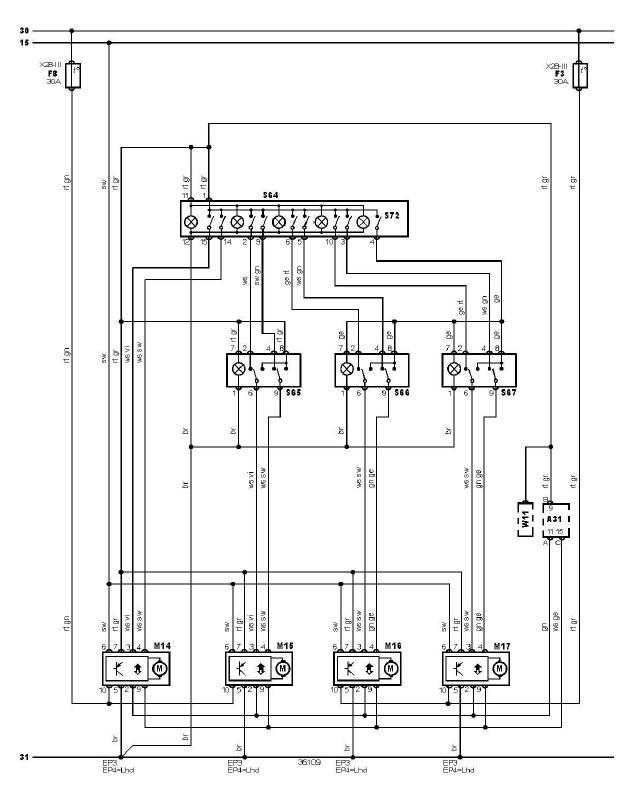 schéma et câblage lève vitres éléctrique audi a3 1.6 l 4porte schéma et câblage audi lève vitres éléctrique 4p 1
