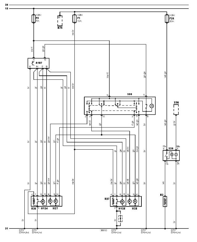schéma et câblage rétroviseur éléctrique et vitres chauffantes audi a3 1.6 l schéma et câblage audi rétroviseur éléctrique et vitres chauffantes 1