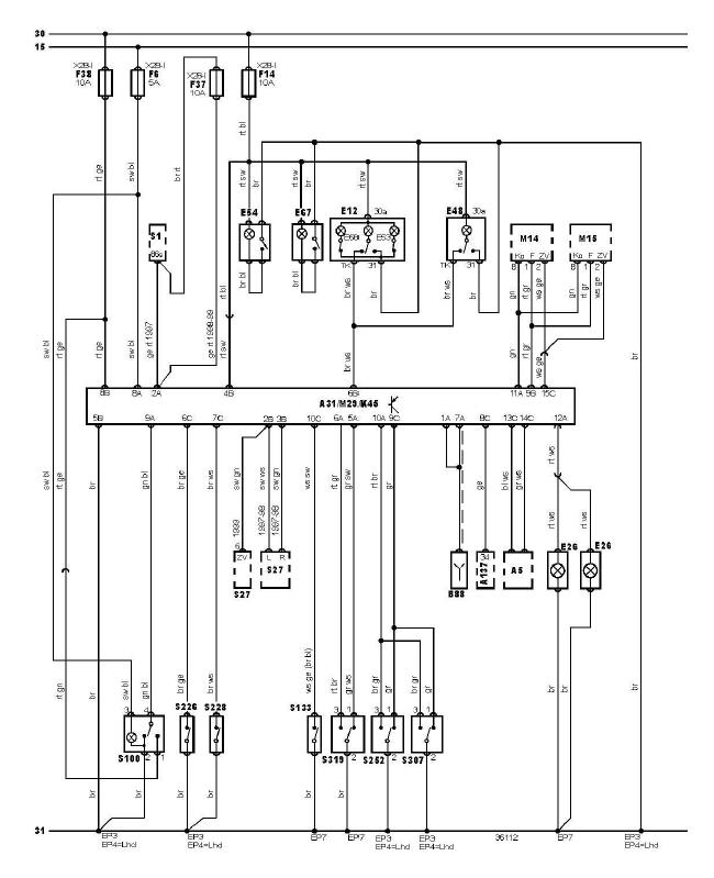 schéma et câblage vérouillage centralisé lumières intérieur sans alarme audi a3 1.6 l schéma et câblage audi vérouillage centralisé lumières intérieur sans alarme 1