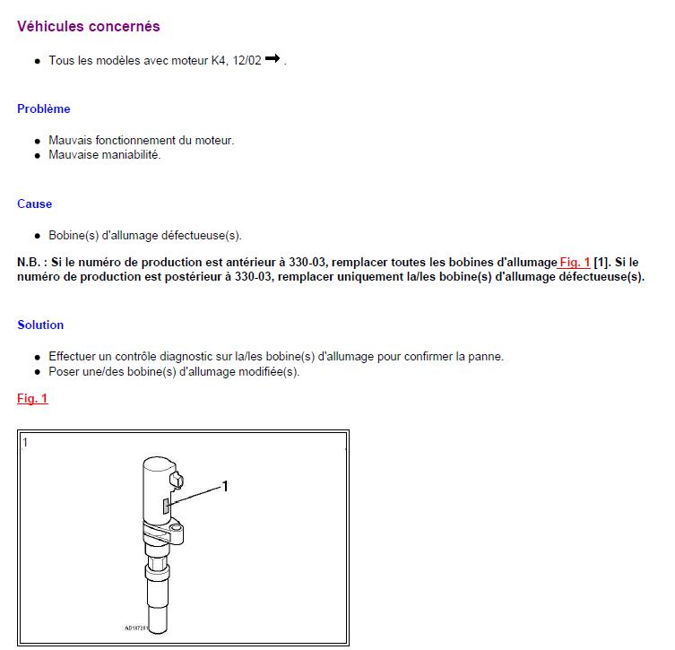 problème renault scénic année 2000 1.4 l mauvais fonctionnement du moteur problème manibilité renault scénic