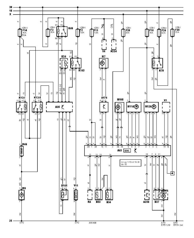 schéma cablage commande automatique climatisation boite fusible plaque relais moteur renault scénic 1.4 l année 1999-2003